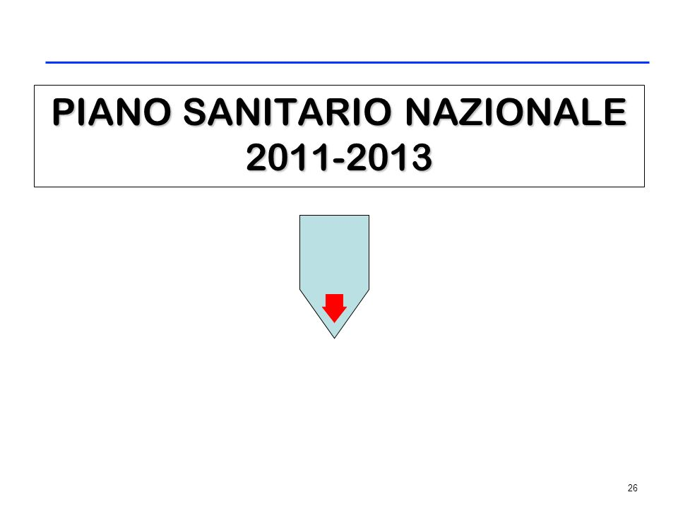 26 PIANO SANITARIO NAZIONALE 2011-2013