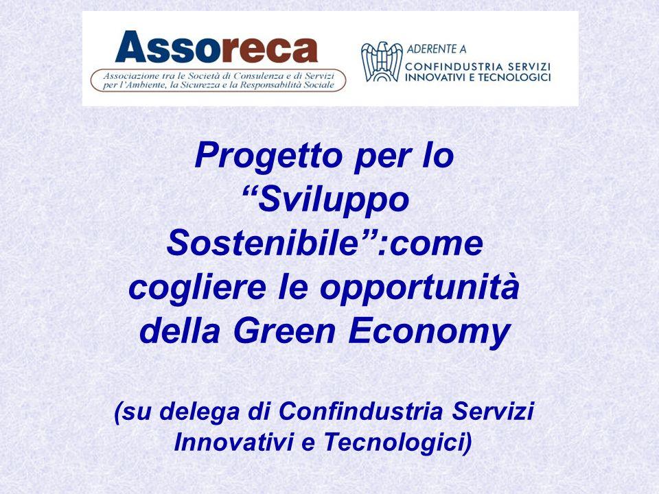 Progetto per lo Sviluppo Sostenibile:come cogliere le opportunità della Green Economy (su delega di Confindustria Servizi Innovativi e Tecnologici)