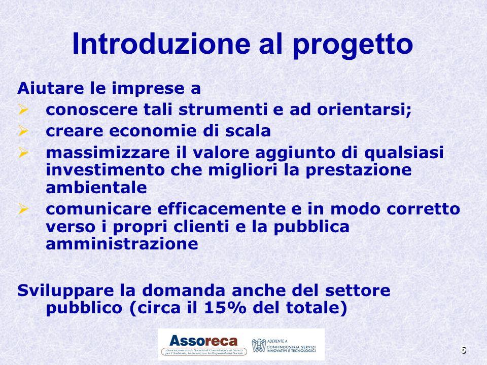 6 Aiutare le imprese a conoscere tali strumenti e ad orientarsi; creare economie di scala massimizzare il valore aggiunto di qualsiasi investimento ch