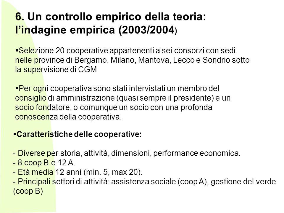 - Caratteristiche delle cooperative: - Diverse per storia, attività, dimensioni, performance economica.
