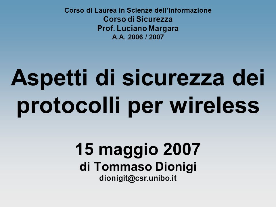 2 Perché il wireless.