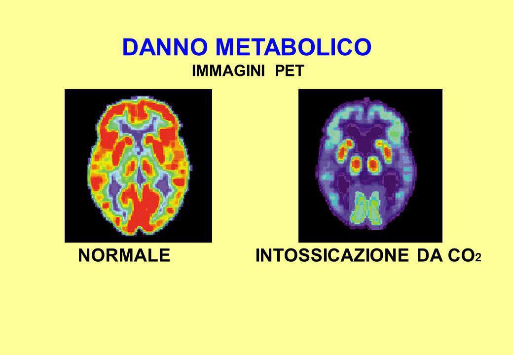DANNO METABOLICO IMMAGINI PET INTOSSICAZIONE DA CO 2 NORMALE