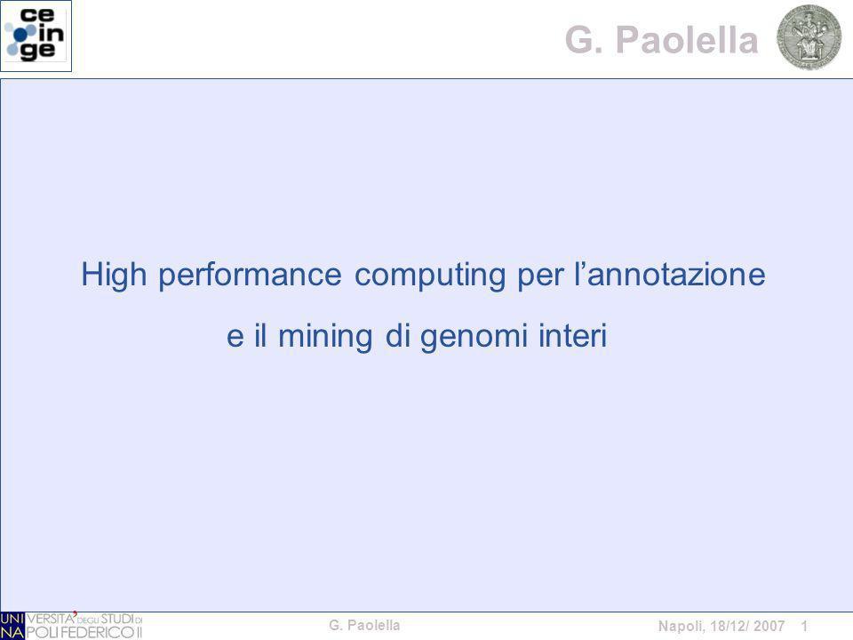 G. Paolella Napoli, 18/12/ 2007 1 G.