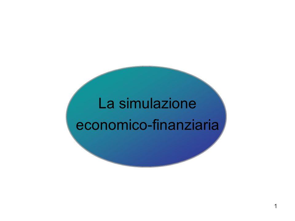 2 La simulazione metodologia decisionale con cui si analizzano le caratteristiche di un sistema reale al fine di comprenderne i meccanismi di funzionamento necessari per prevedere il suo sviluppo futuro e per mettere a punto le più opportune linee di comportamento