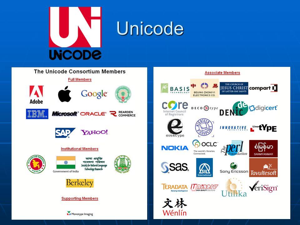 Uso di Unicode nel Web Fonte: Google Blog