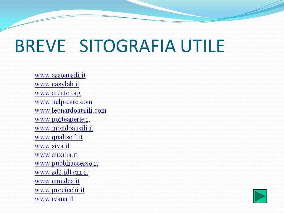 BREVE SITOGRAFIA UTILE