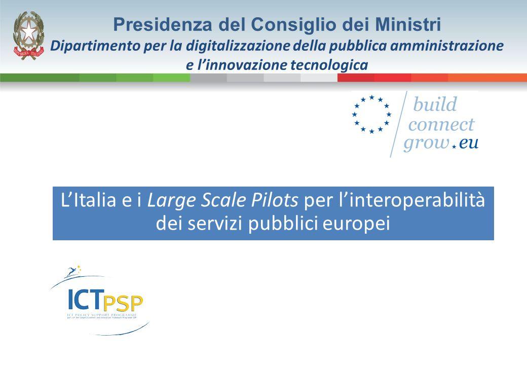 LItalia e i Large Scale Pilots per linteroperabilità dei servizi pubblici europei Presidenza del Consiglio dei Ministri Dipartimento per la digitalizz