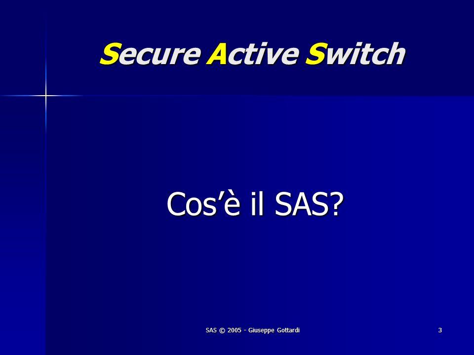 SAS © 2005 - Giuseppe Gottardi3 Secure Active Switch Cosè il SAS? Cosè il SAS?