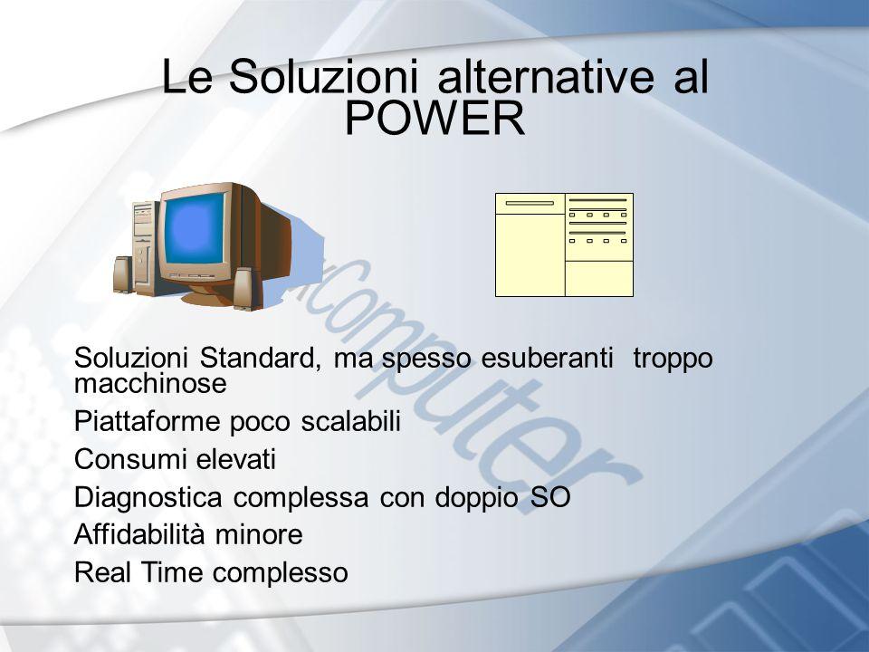 Le Soluzioni alternative al POWER Soluzioni Standard, ma spesso esuberanti troppo macchinose Piattaforme poco scalabili Consumi elevati Diagnostica co