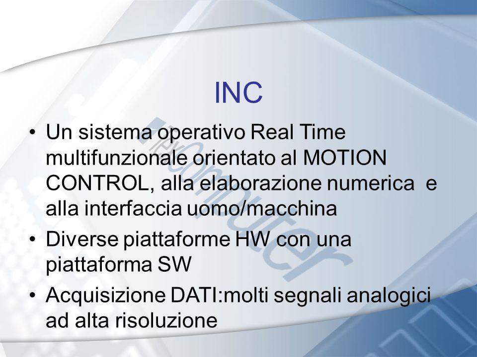 INC Un sistema operativo Real Time multifunzionale orientato al MOTION CONTROL, alla elaborazione numerica e alla interfaccia uomo/macchina Diverse pi