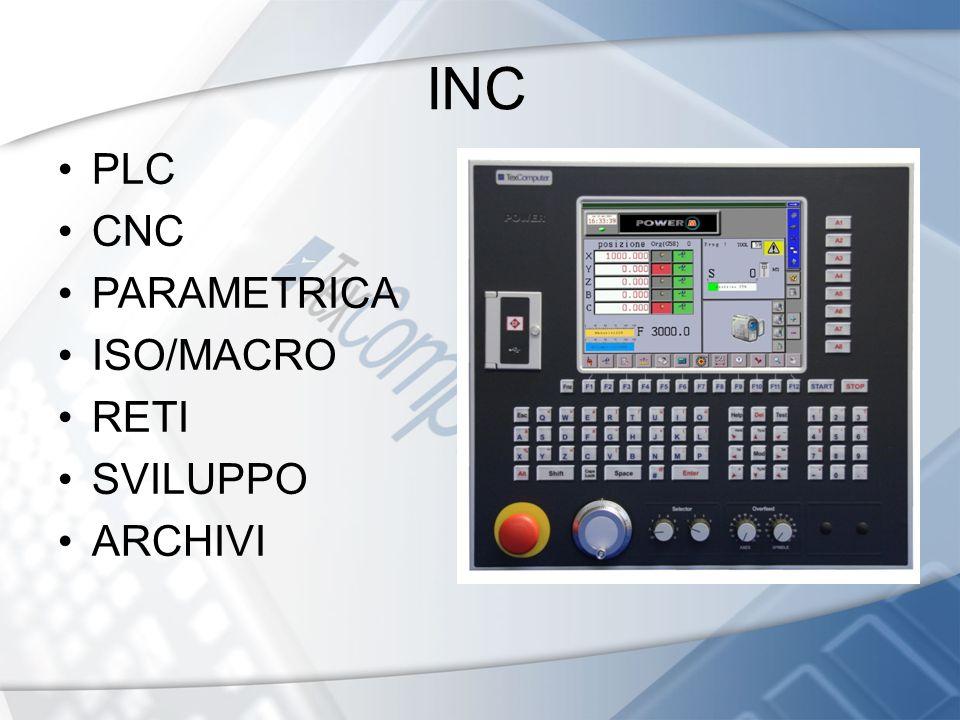 INC PLC CNC PARAMETRICA ISO/MACRO RETI SVILUPPO ARCHIVI