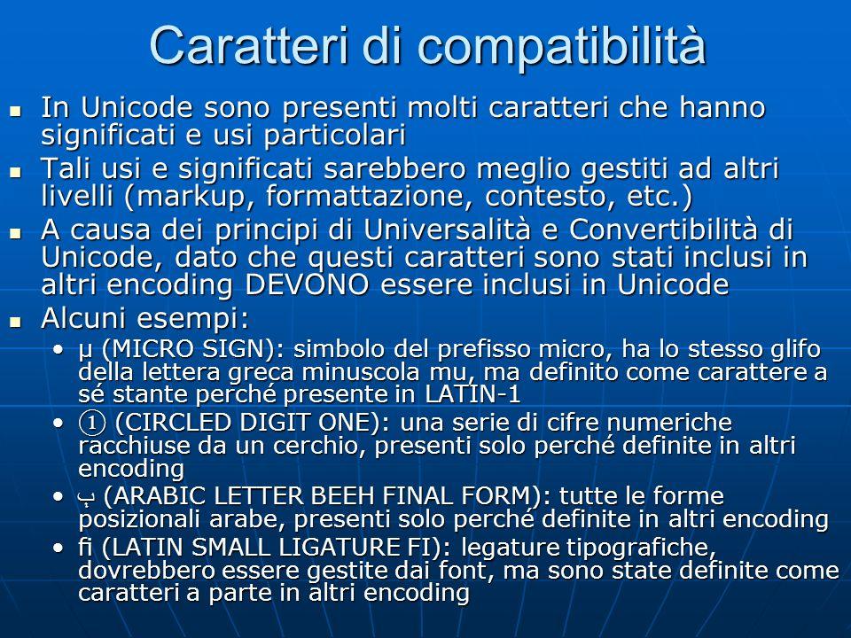 Composizione: problemi Una stessa stringa può essere scritta in molti modi diversi Una stessa stringa può essere scritta in molti modi diversi Per ese