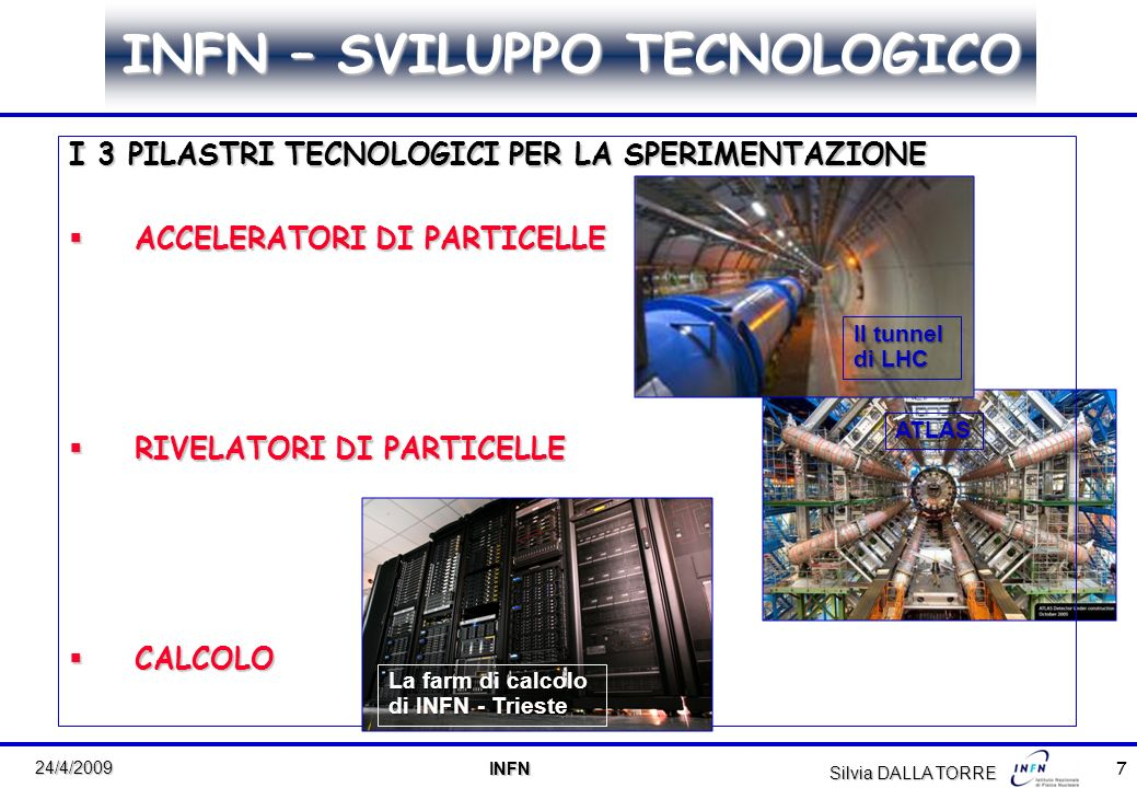 8 24/4/2009 INFN INFN Silvia DALLA TORRE particle accelerators with increasing energy and intensity LHC (CERN) 7 TeV p p 7 TeV Energy (GeV) Current ( A) JPARC (Japan) (Japan) OPERATION STARTING: 2 ND HALF 2008 OPERATION STARTING: 4 TH QUARTER 2008