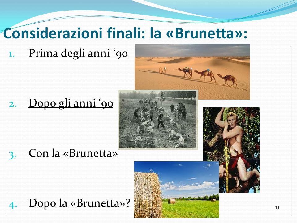 Considerazioni finali: la «Brunetta»: 1. Prima degli anni 90 2. Dopo gli anni 90 3. Con la «Brunetta» 4. Dopo la «Brunetta»? 11