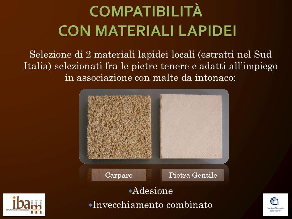 Selezione di 2 materiali lapidei locali (estratti nel Sud Italia) selezionati fra le pietre tenere e adatti allimpiego in associazione con malte da in