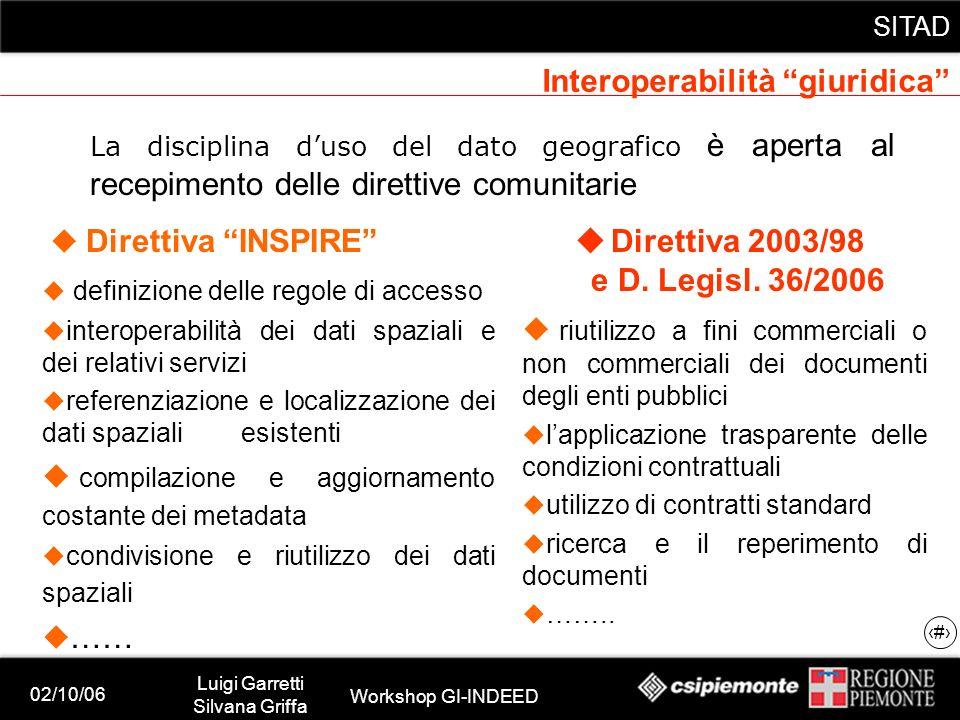 02/10/06 Luigi Garretti Silvana Griffa Workshop GI-INDEED SITAD 18 permettere la visualizzazione simultanea di dati provenienti e gestiti dalle singole fonti (es.