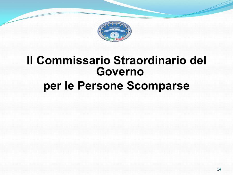 Il Commissario Straordinario del Governo per le Persone Scomparse 14