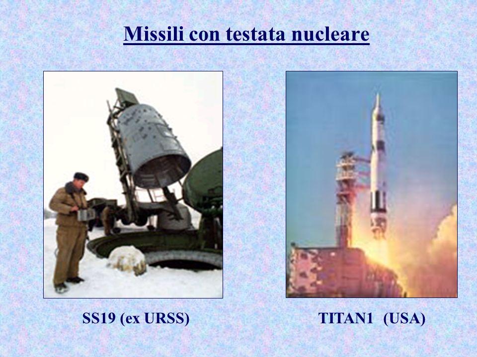 Missili con testata nucleare SS19 (ex URSS)TITAN1 (USA)