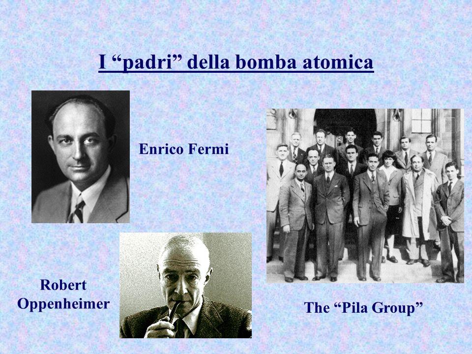 I padri della bomba atomica Enrico Fermi Robert Oppenheimer The Pila Group