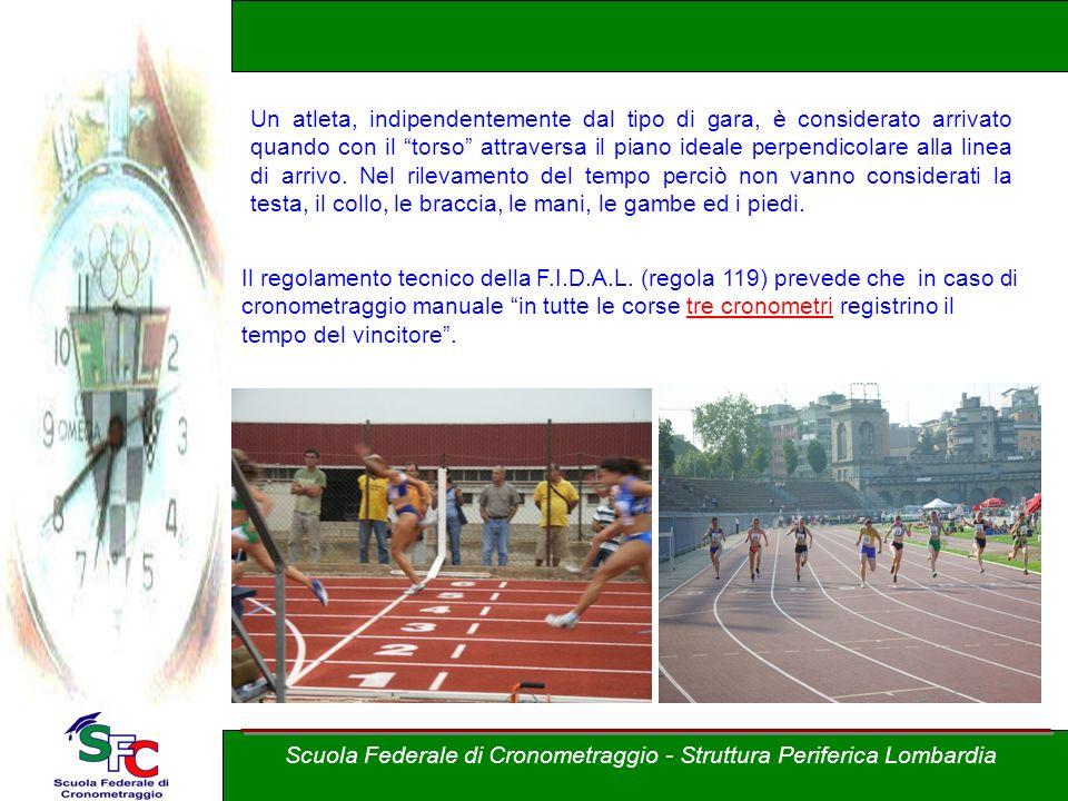 Corso Allievi cronometristi - atletica A cura di Andrea Pederzoli I tempi intermedi Per tutte le gare di corsa e marcia su pista superiori ai 400 metr