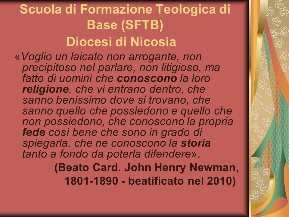 2° anno (h.120) I Semestre 1. TD 1 - Teologia Trinitaria (h.