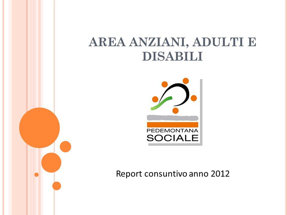 AREA ANZIANI, ADULTI E DISABILI Report consuntivo anno 2012