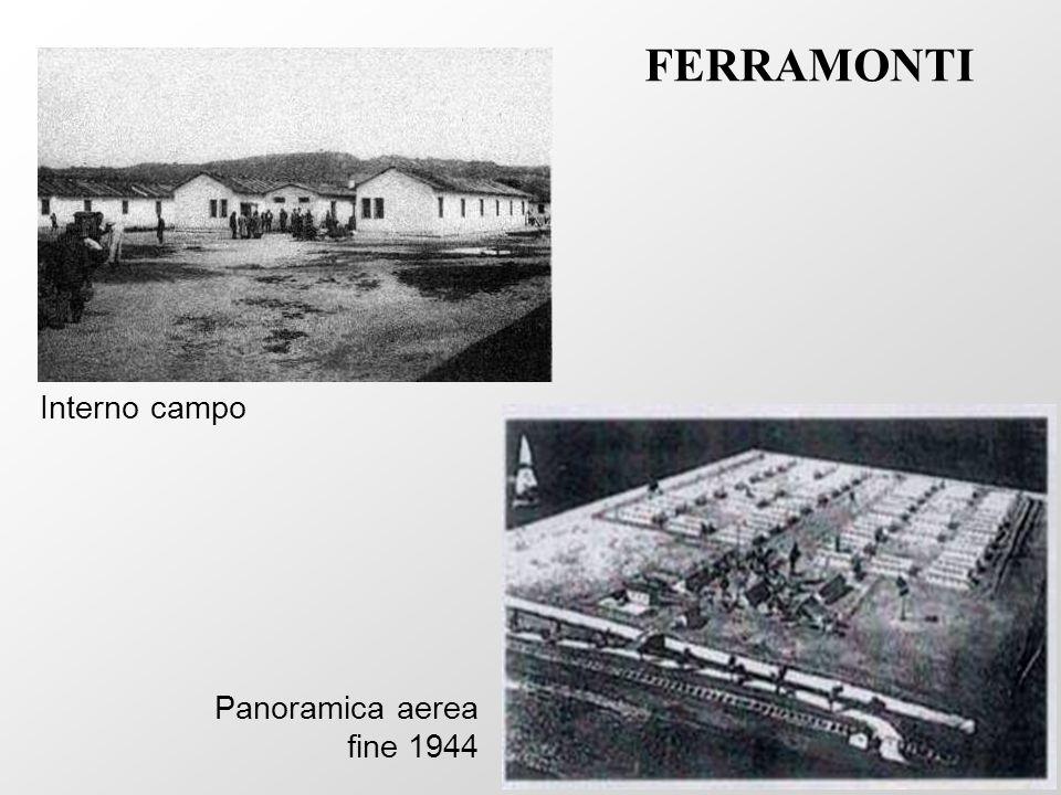 Panoramica aerea fine 1944 Interno campo FERRAMONTI
