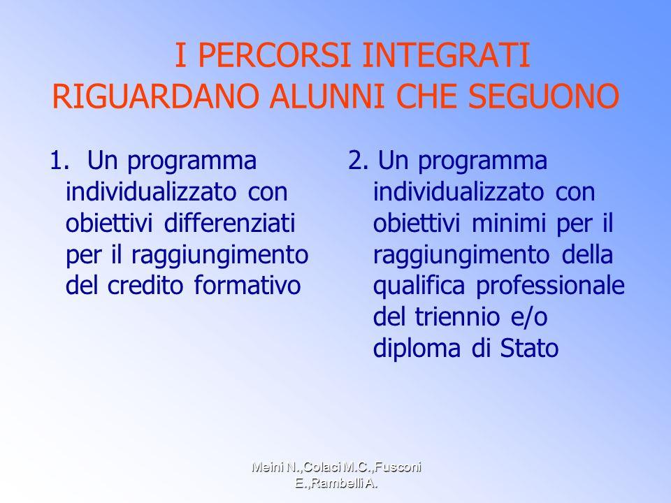 Meini N.,Colaci M.C.,Fusconi E.,Rambelli A.OBIETTIVI PERCORSI INTEGRATI 1.