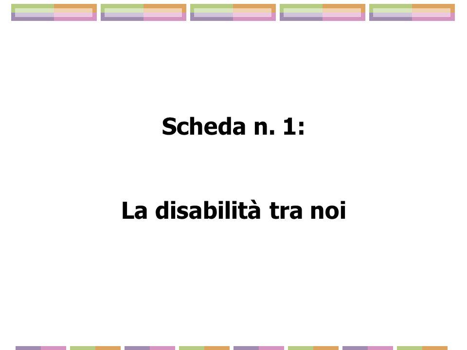 Scheda n. 1: La disabilità tra noi