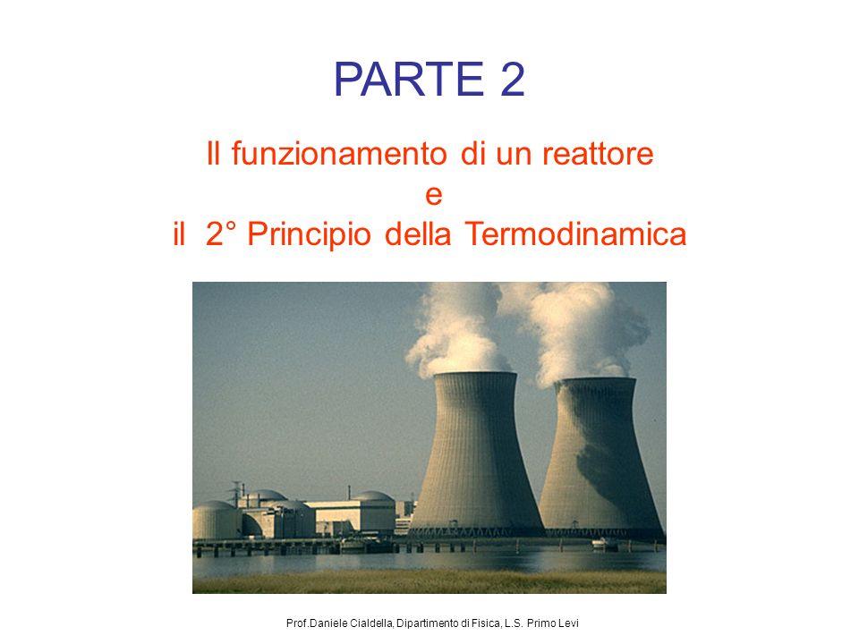 PARTE 2 Il funzionamento di un reattore e il 2° Principio della Termodinamica Prof.Daniele Cialdella, Dipartimento di Fisica, L.S. Primo Levi