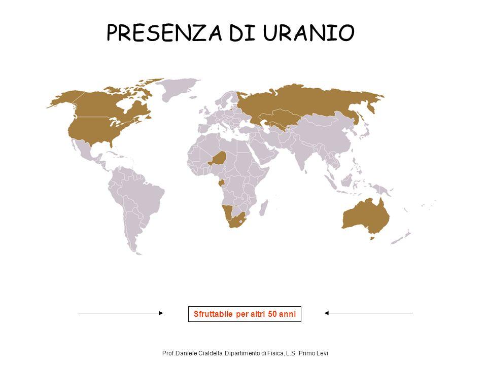 PRESENZA DI URANIO Prof.Daniele Cialdella, Dipartimento di Fisica, L.S.