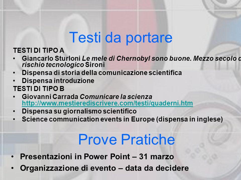 Testi da portare TESTI DI TIPO A Giancarlo Sturloni Le mele di Chernobyl sono buone.
