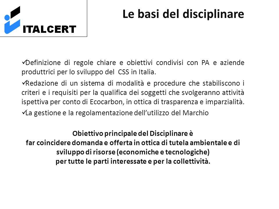 Definizione di regole chiare e obiettivi condivisi con PA e aziende produttrici per lo sviluppo del CSS in Italia.