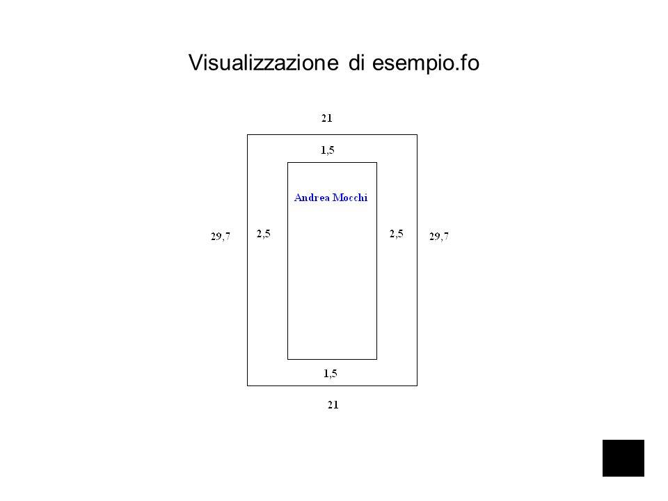 Visualizzazione di esempio.fo