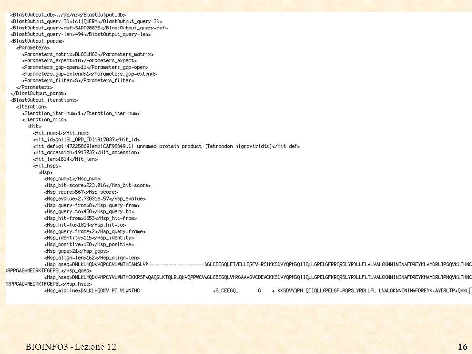 BIOINFO3 - Lezione 1216