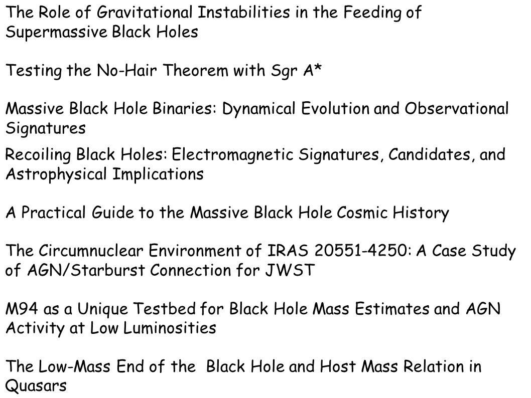 Radio-VLBI Eddington BH paradigm SMBH Massa+Accretion+Spin Radio loud Radio quieto Bestiario: HP LP Tipo1 Tipo2 relazione galassia spettro Righe continuo BLR NLR Fe X(disco) non-termico Meccanismi di emissione Radio telescopi