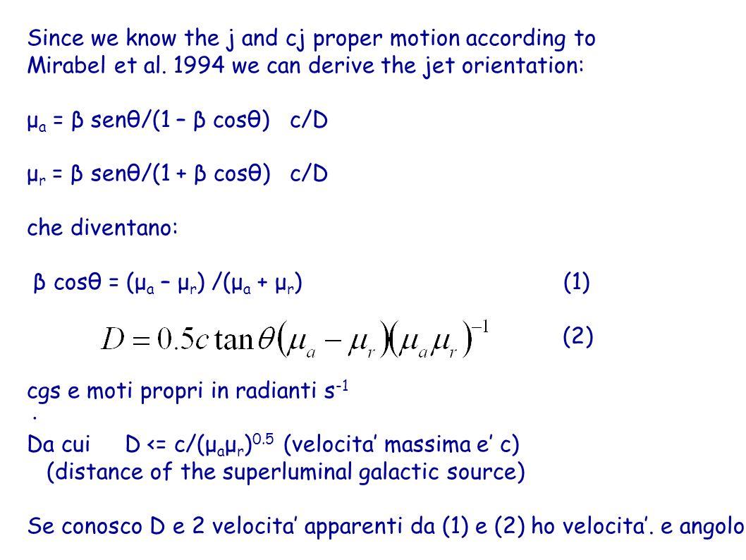 Sempre: v = βc e la velocita del blob rispetto al nucleo della sorgente Vedi astro-ph/0407478, 9-9-04 Se il redshift e molto elevato occorre inserire