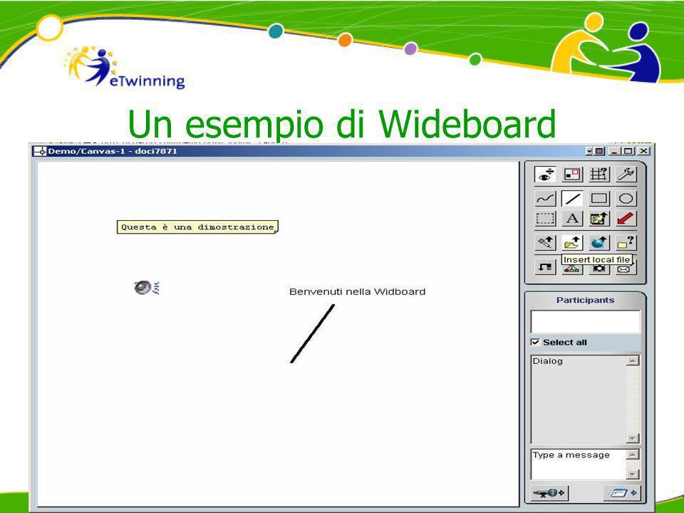 Un esempio di Wideboard