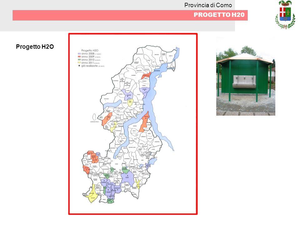 Provincia di Como PROGETTO H20 Progetto H2O