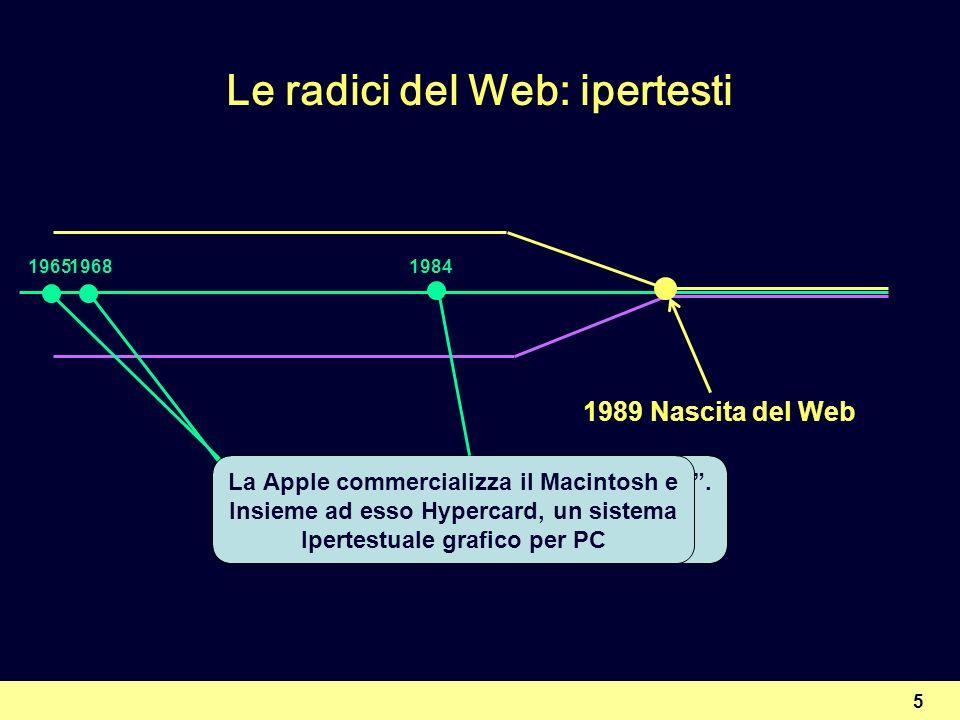 16 Un modello concettuale per il Web IMMAGINITESTO CODICE Comportamento Presentazione Struttura