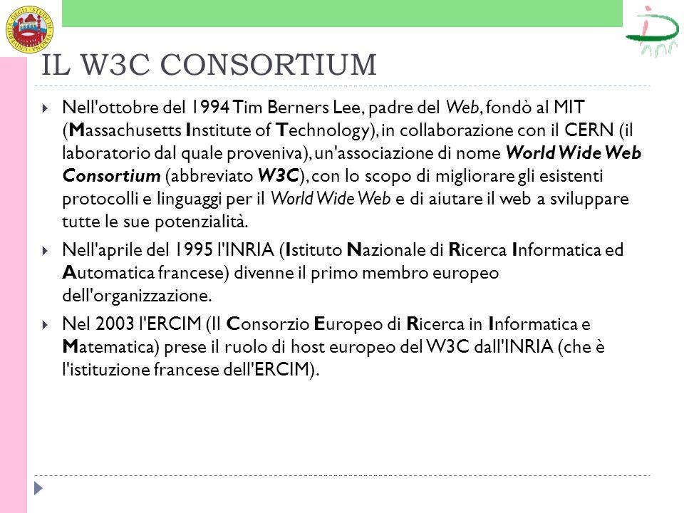 ESEMPI DI SPECIFICHE Esempio di DocType per un sito con i frames: Esempio di DocType per un sito che applica rigidamente le ultime direttive del W3C: