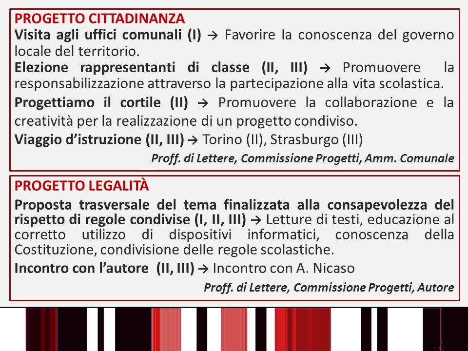 PROGETTO CITTADINANZA Visita agli uffici comunali (I) Favorire la conoscenza del governo locale del territorio. Elezione rappresentanti di classe (II,