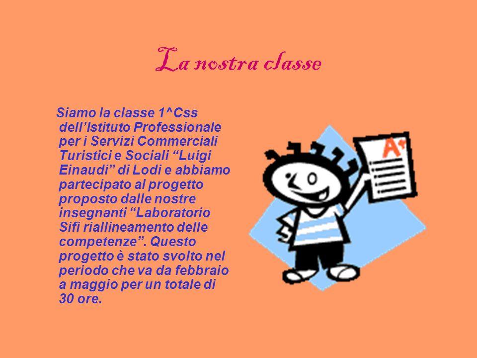 LABORATORIO SIFI ANNO SCOLASTICO 2005/06 CLASSE 1^Css