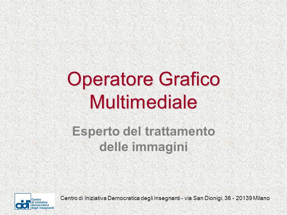 Centro di Iniziativa Democratica degli Insegnanti - via San Dionigi, 36 - 20139 Milano Operatore Grafico Multimediale Esperto del trattamento delle immagini