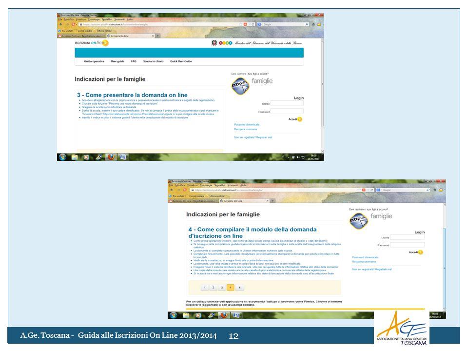 A.Ge. Toscana - Guida alle Iscrizioni On Line 2013/2014 12