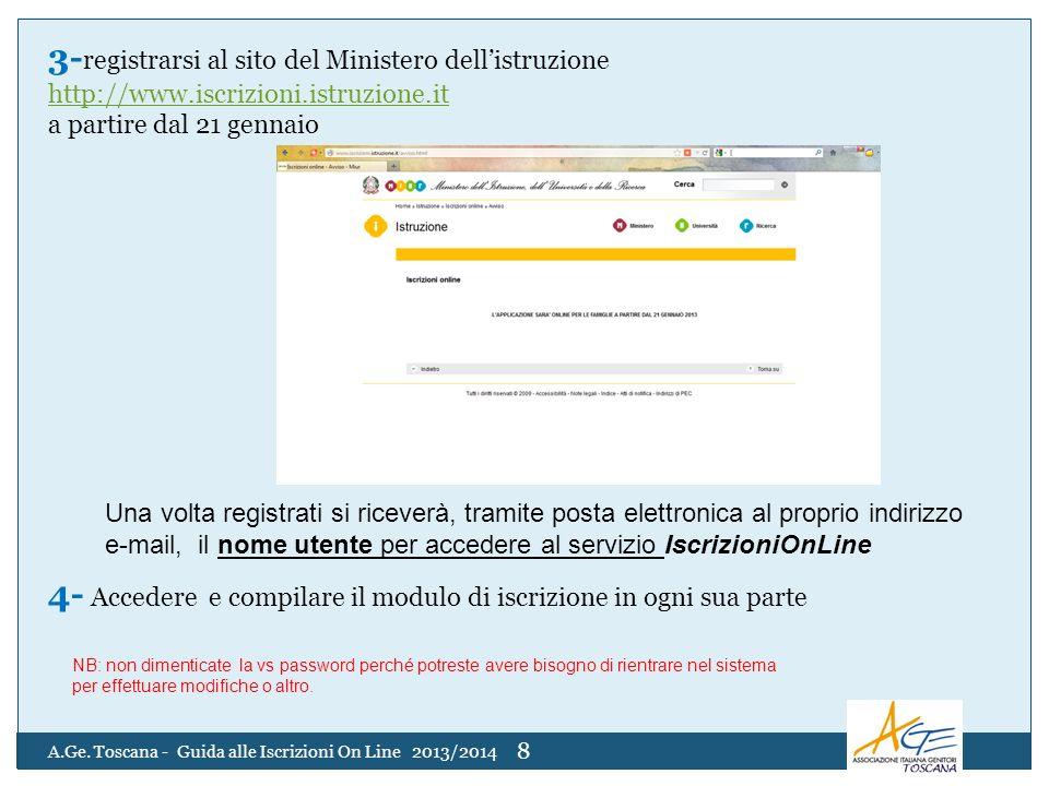 3- registrarsi al sito del Ministero dellistruzione http://www.iscrizioni.istruzione.it a partire dal 21 gennaio 4- Accedere e compilare il modulo di