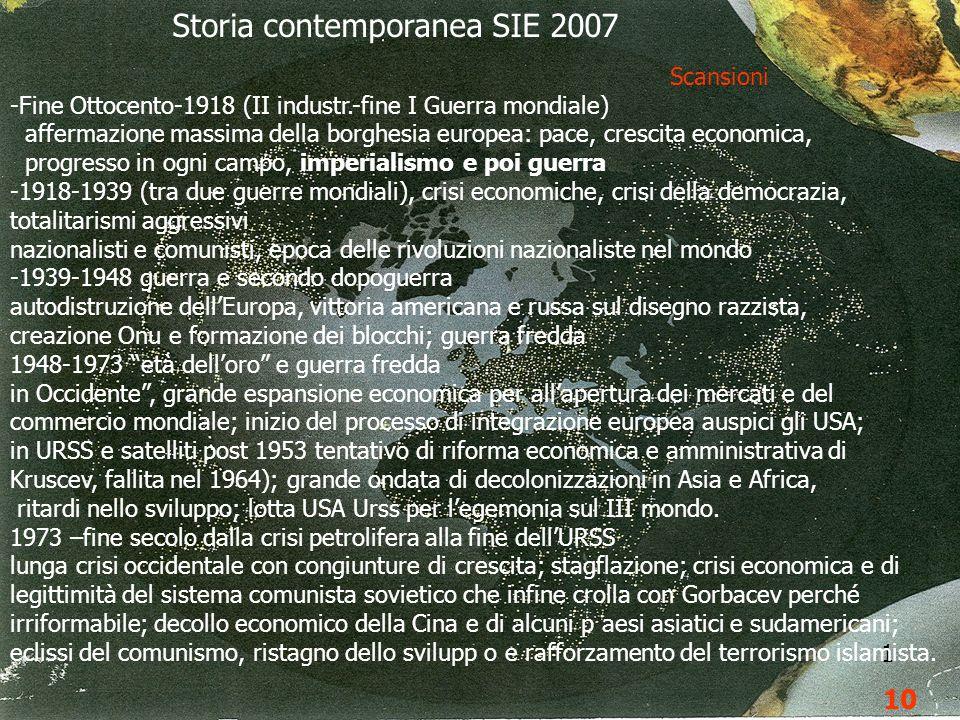 9 1 10 Storia contemporanea SIE 2007 Scansioni -Fine Ottocento-1918 (II industr.-fine I Guerra mondiale) affermazione massima della borghesia europea:
