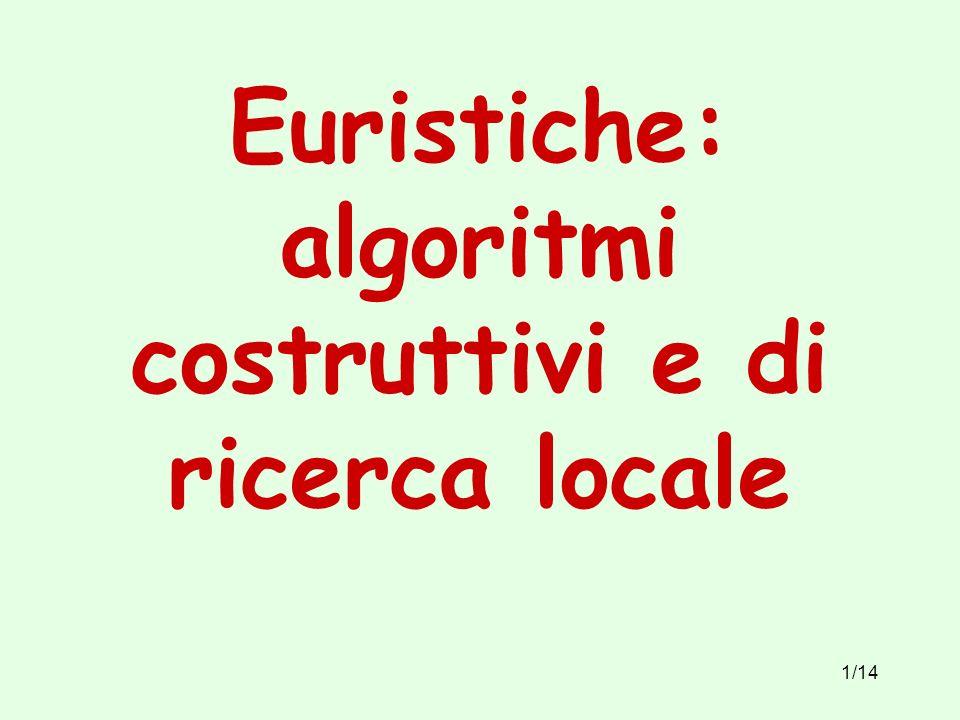 1/14 Euristiche: algoritmi costruttivi e di ricerca locale