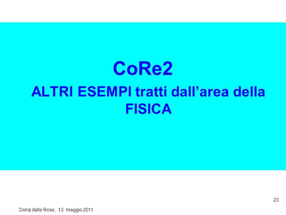CoRe2 ALTRI ESEMPI tratti dallarea della FISICA Donà dalle Rose, 13 maggio 2011 23