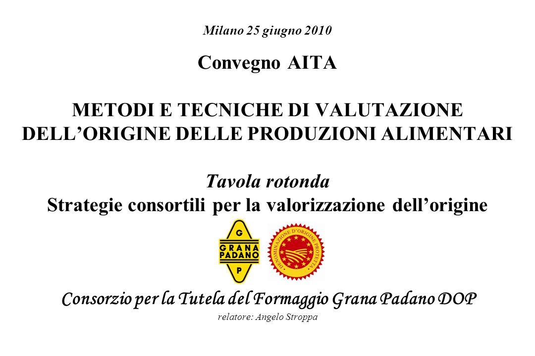 Milano 25 giugno 2010 Convegno AITA METODI E TECNICHE DI VALUTAZIONE DELLORIGINE DELLE PRODUZIONI ALIMENTARI Tavola rotonda Strategie consortili per l